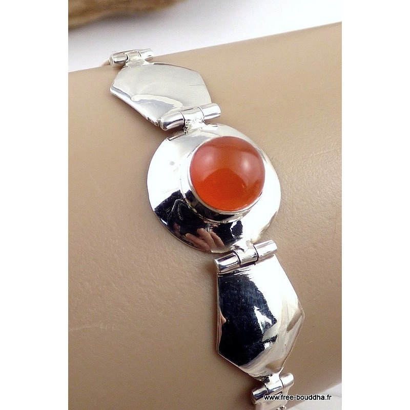 Bracelet argent CORNALINE LW15.3