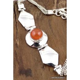 Bracelet argent CORNALINE Bracelets pierres naturelles LW15.3