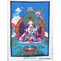 Tenture tibétaine TARA BLANCHE TENTB1