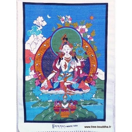 Tenture tibétaine TARA BLANCHE