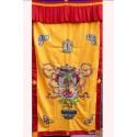 Tenture tibétaine bouddhiste VASE AU TRESOR TEN LB17