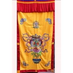 Tenture tibétaine bouddhiste VASE AU TRESOR