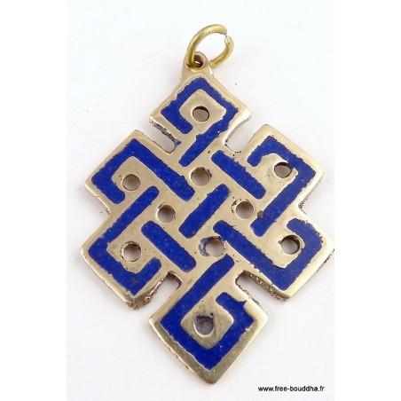 Pendentif Noeud sans fin en lapis lazuli