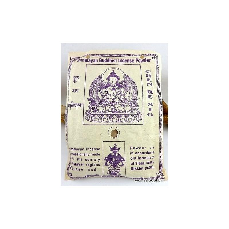 Encens tibétain poudre CHENREZI INT87E