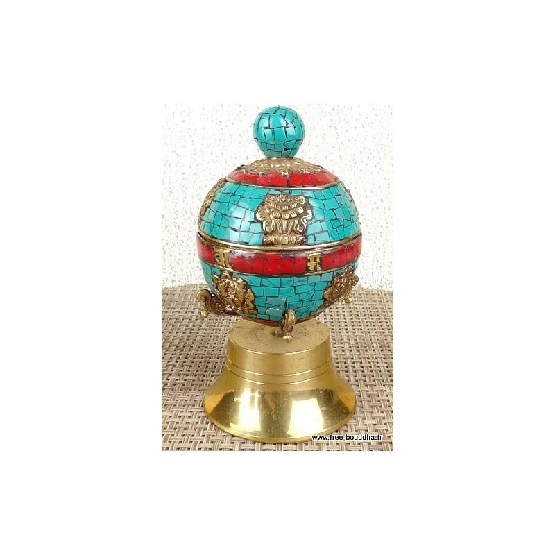 Moulin à prières bouddhiste 14 cm 5000.1