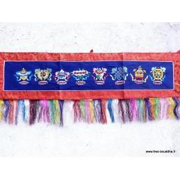 Dessus de porte tibétaine mantra bleue