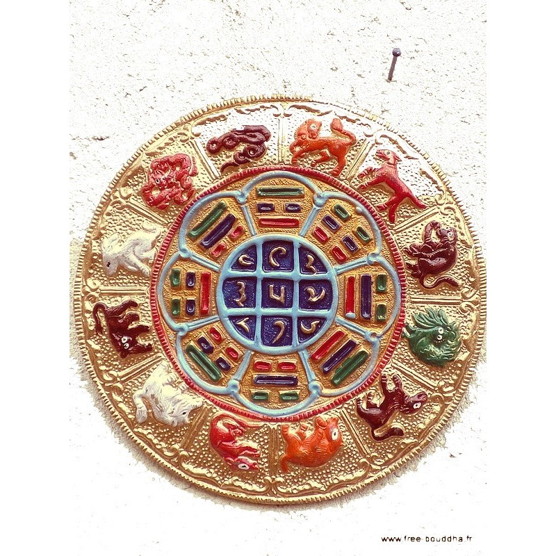 Artisanat népalais YI KING SIGNES CHINOIS TCC1