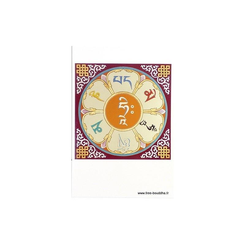 Carte postale bouddhiste MANTRA DE CHENREZI CPB13