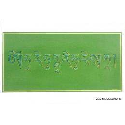 Carte postale bouddhiste MANTRA DE TARA VERTE CPB14