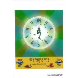 Carte postale bouddhiste MANTRA DE TARA VERTE CPB18