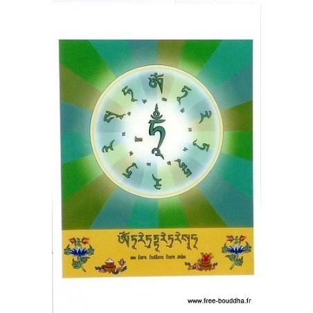 Carte postale mantra de Tara Verte