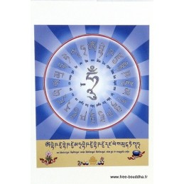 Carte postale bouddhiste BOUDDHA DE MEDECINE