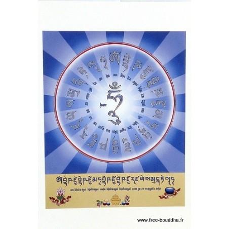 Carte postale bouddhiste symbole du Bouddha de médecine