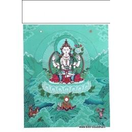 Carte postale bouddhiste CHENREZI