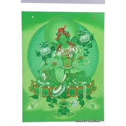 Carte postale divinité Tara Verte
