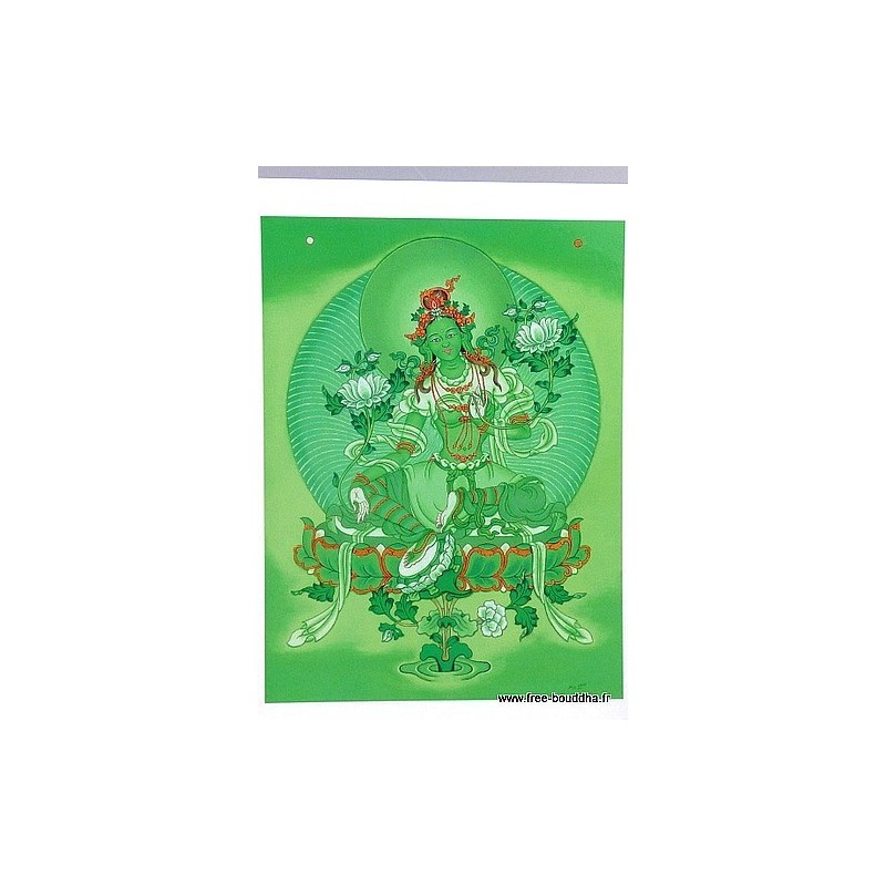 Carte postale bouddhiste TARA VERTE CPB3