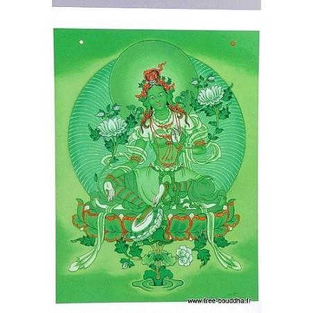Carte postale bouddhiste TARA VERTE