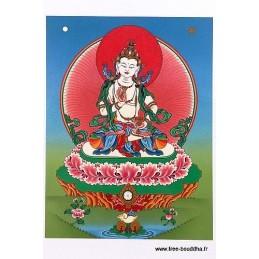 Carte postale bouddhiste VAJRASATTVA DORJE SEMPA CPB5