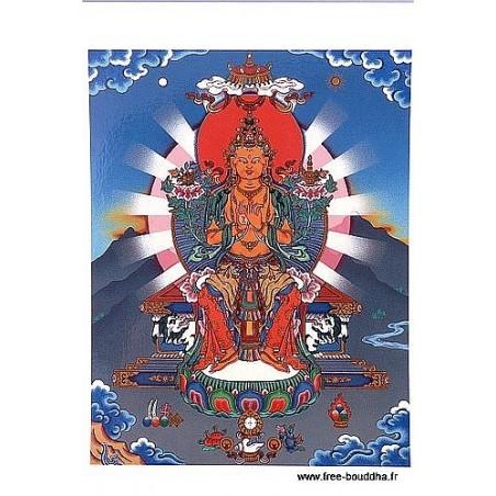 Carte postale bouddhiste MAITREYA