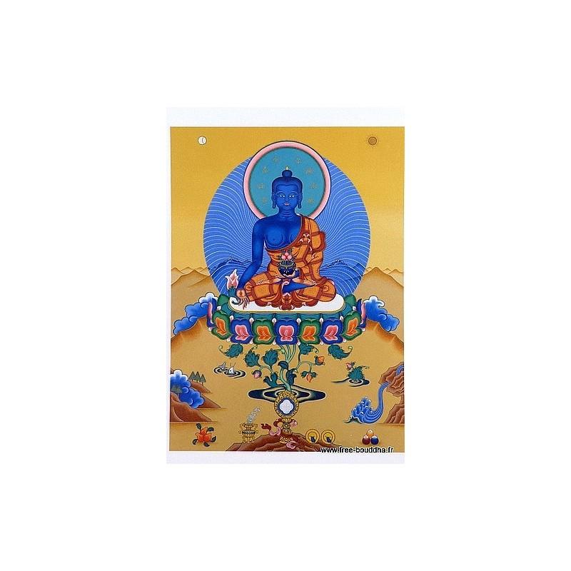 Carte postale bouddhiste BOUDDHA DE MEDECINE CPB7