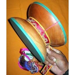 Instrument de musique DAMARU tibétain 23 cm DAMA23