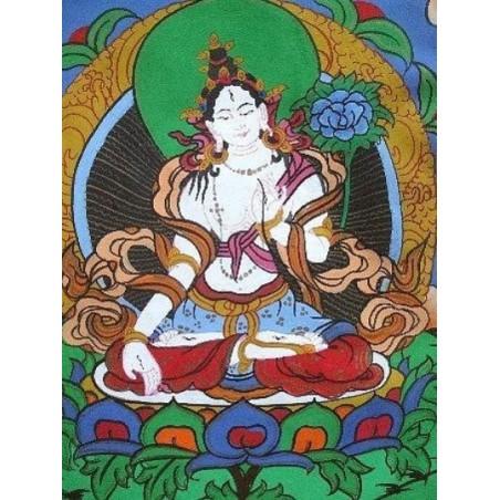 Tangka tibétain TARA BLANCHE