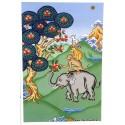 Carte postale bouddhiste QUATRE AMIS CPB33