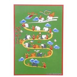 Carte postale bouddhiste CHEMIN DE SAMATHA