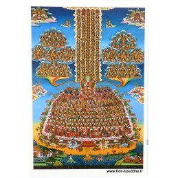 Carte postale bouddhiste ARBRE AU REFUGE