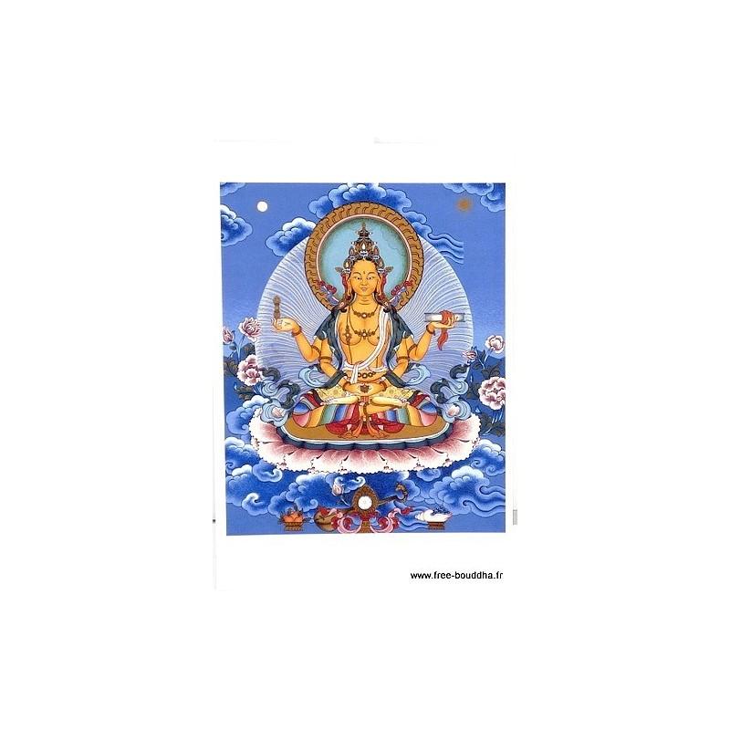 Carte postale bouddhiste PRAJNAPARAMITA CPB27