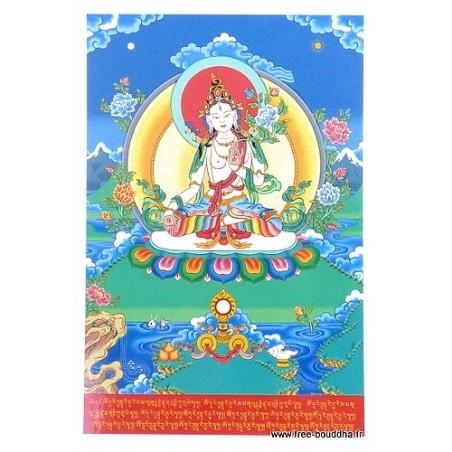 Carte postale bouddhiste TARA BLANCHE
