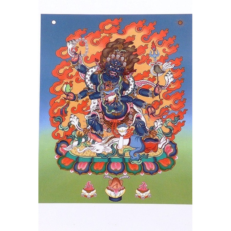 Carte postale bouddhiste MAHAKALA CPB30