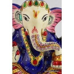 Artisanat népalais statuette Ganesh peinte à la main Objets Ganesh STA75.1