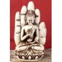 Statuette Bouddha posé sur main ref SDM