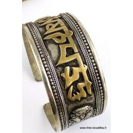 Bracelet tibetain MANTRA métal et laiton Bracelets tibétains bouddhistes BHB2.11
