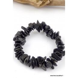 Bracelet perles chips AGATE NOIRE AGA3