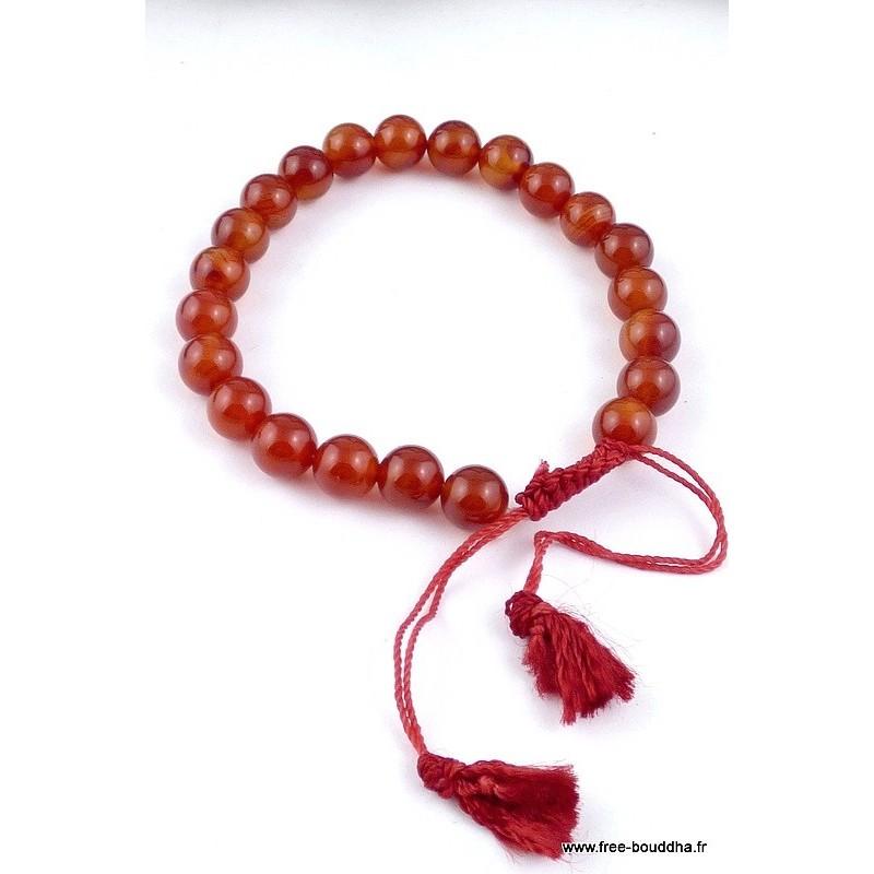 Bracelet mala de méditation CORNALINE AGA2
