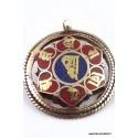 Pendentif tibétain réversible OM KALACHAKRA BHP43.1
