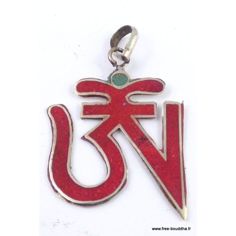 Pendentif tibétain bouddhiste OM