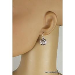Boucles d'oreilles Allah en argent Boucles d'oreilles en pierres MB37