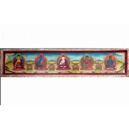 Sculpture artisanat bouddhistes CINQ BOUDDHAS