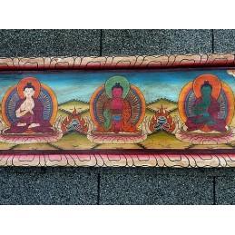 Tableau bouddhiste 5 Bouddhas TAB6