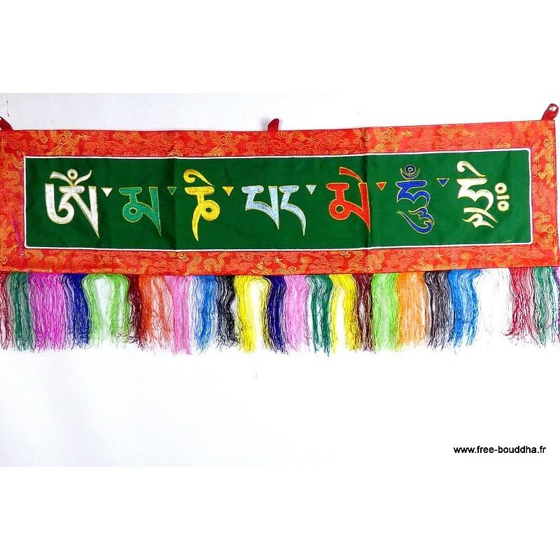 Dessus de porte tibétain Mantra de Chenrezi OMPH5