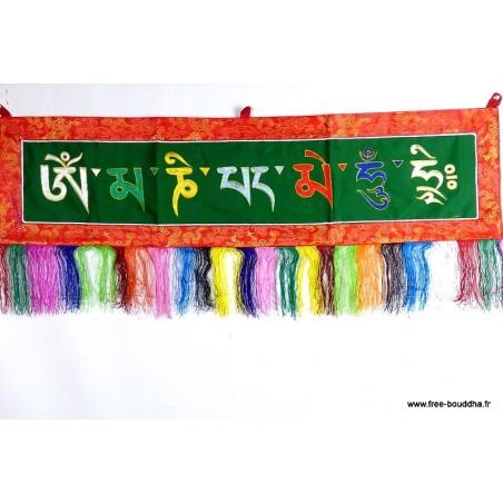 Tenture tibétaine MANTRA DE CHENREZI