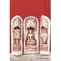 Autel tryptique bouddhiste de voyage