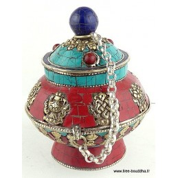 Artisanat tibétain BOITE A BIJOUX bouddhiste Artisanat tibétain bouddhiste BAT2
