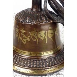 Cloche et dorjé tibétain 15 cm CD15