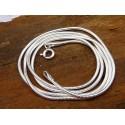 Chaîne serpent en argent 45 cm 1,3 mm