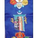 Bannière tibétaine CINQ SYMBOLES TENCS2