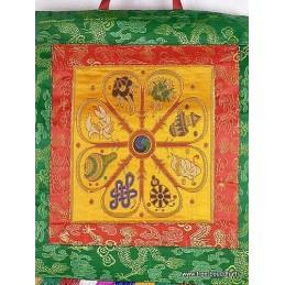 Tenture tibétaine 8 SIGNES AUSPICIEUX TENSAU2